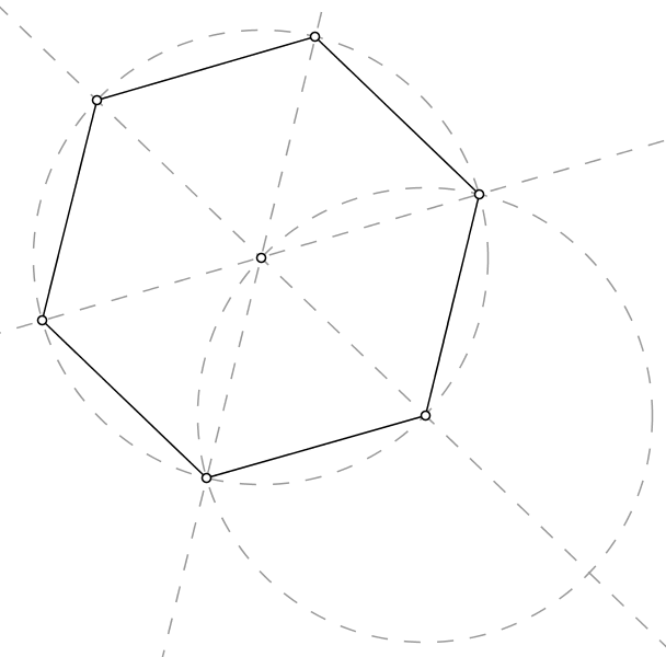 regelmäßiges sechseck konstruieren